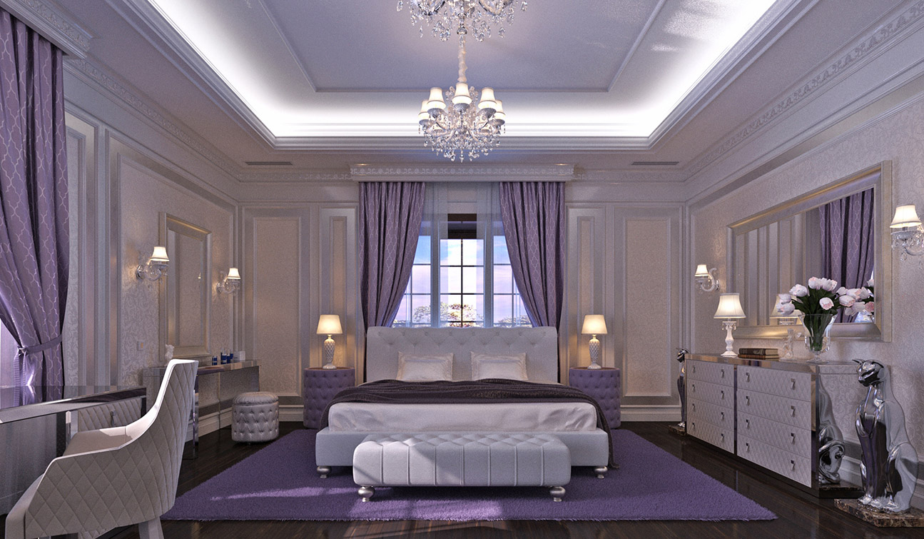 Bedroom Interior Design in Elegant Neoclassical Style - view #1