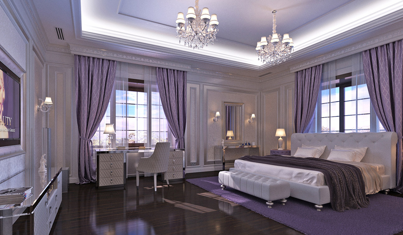 Bedroom Interior Design in Elegant Neoclassical Style - view #4