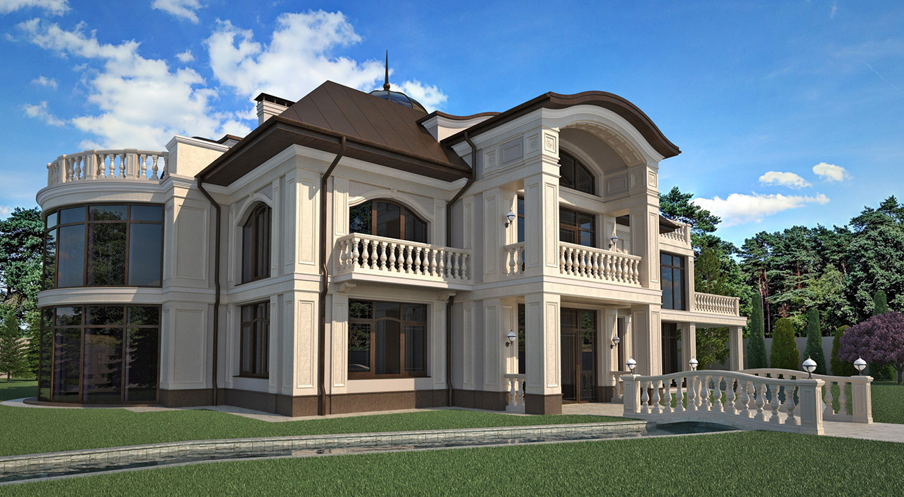 Classic style private residential house - view #1