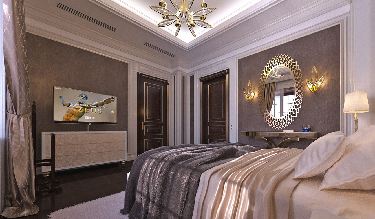 Elegant Guest Bedroom interior in Art Deco style - view #3