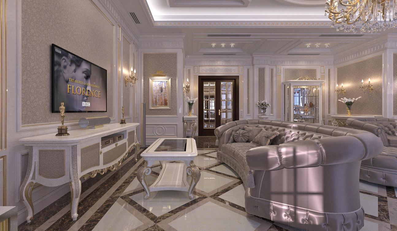 Living Room Interior Design In Elegant