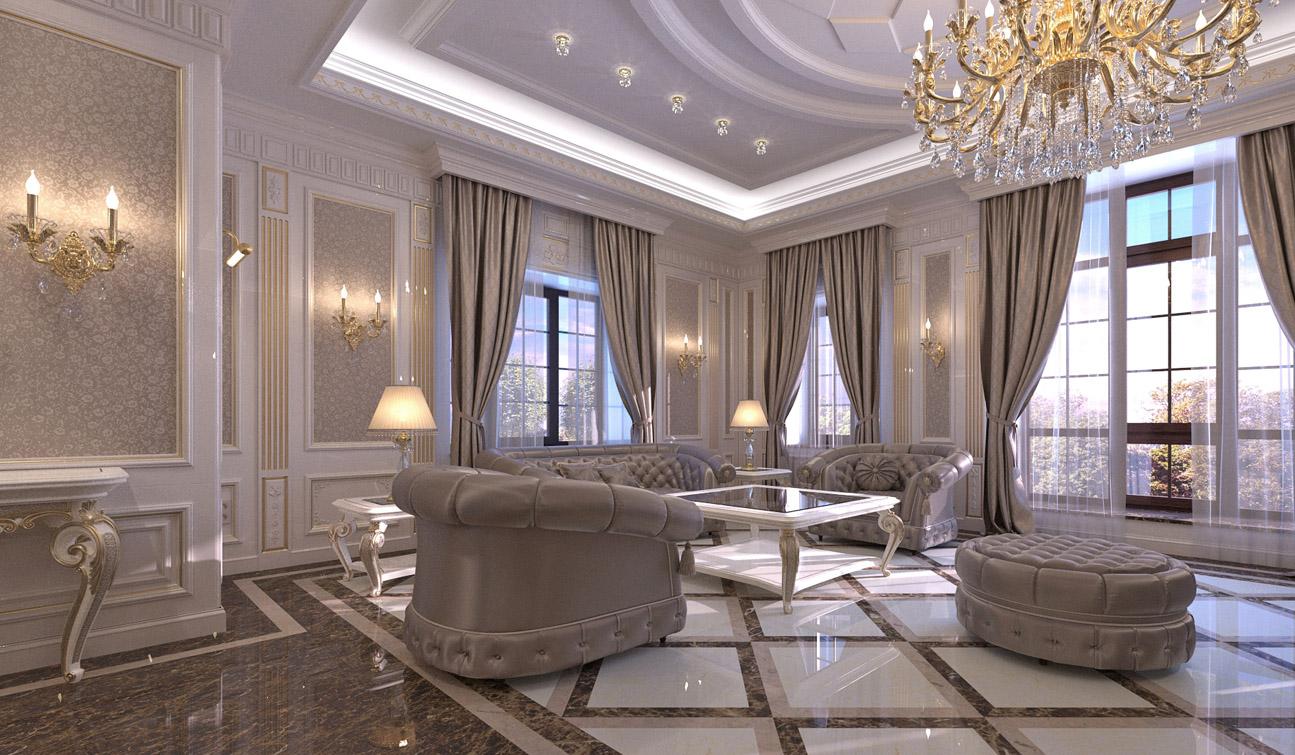 vicworkstudio  living room interior design in elegant