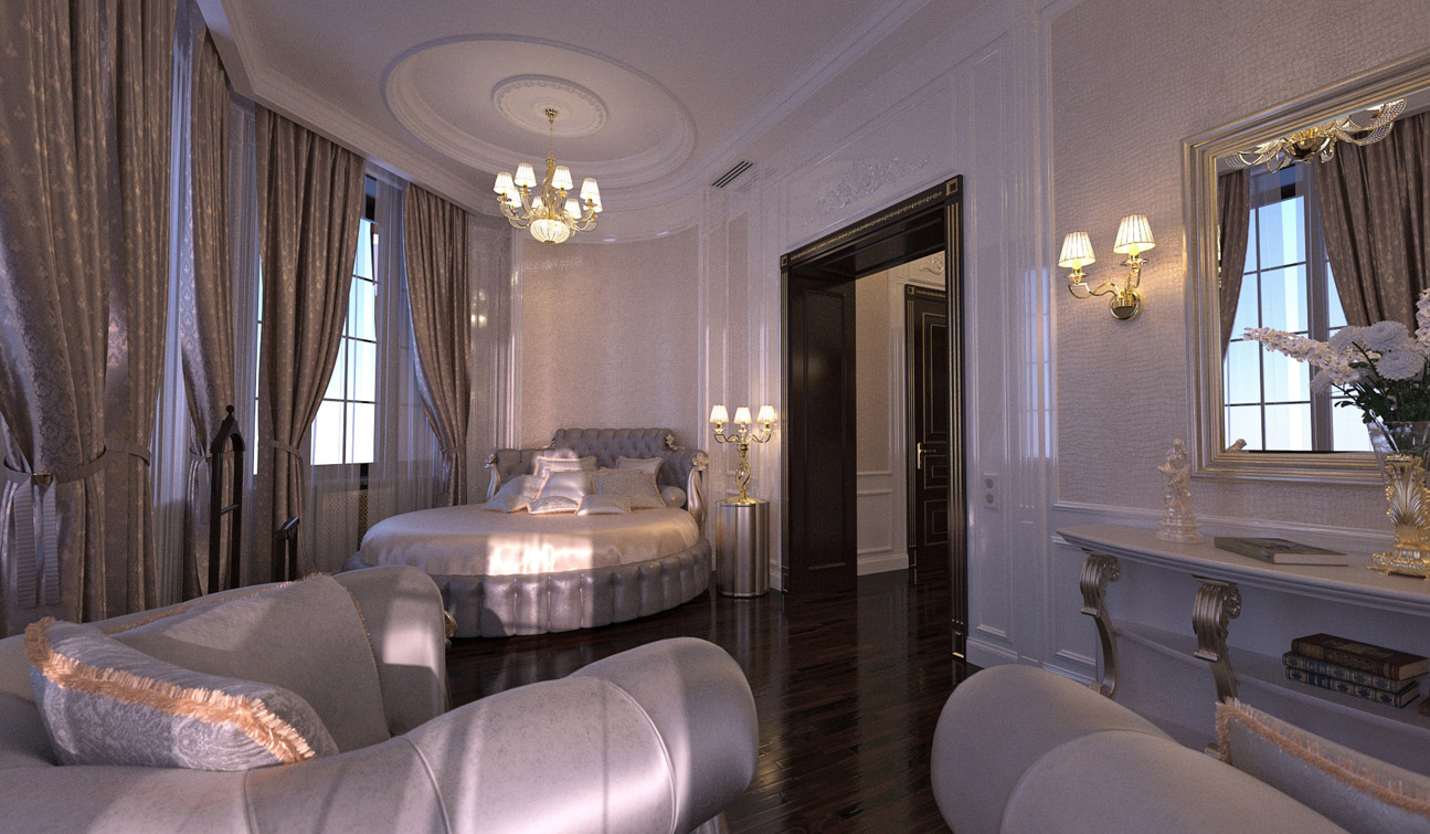 Luxury and Glamour Bedroom Interior Design in Art Deco style image01