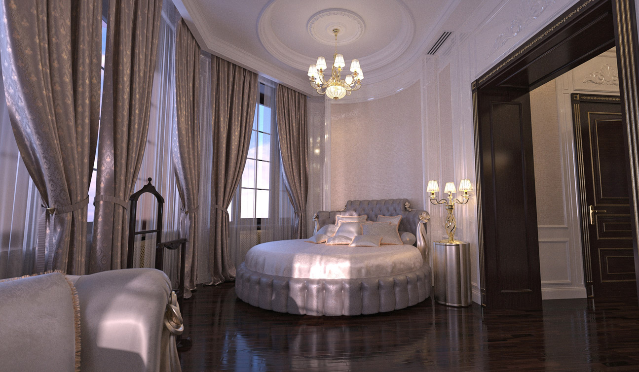 Luxury and Glamour Bedroom Interior Design in Art Deco style image02