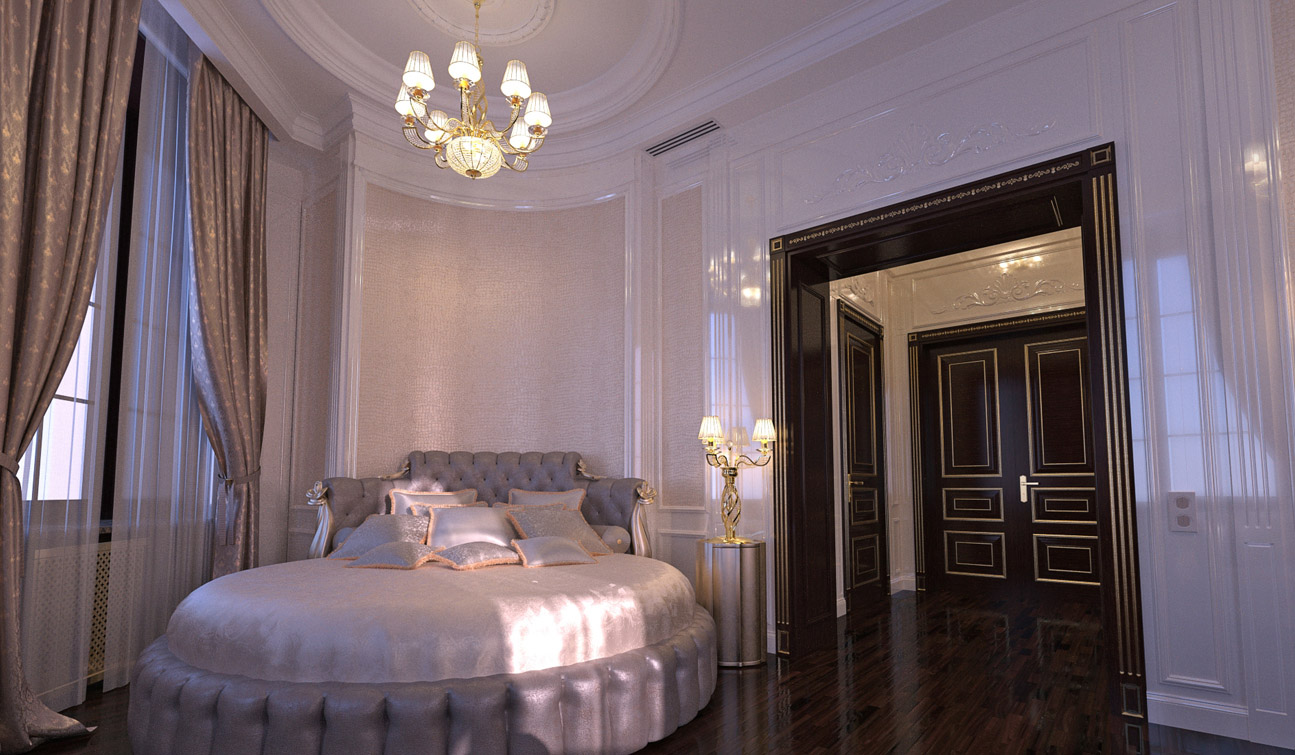 Luxury and Glamour Bedroom Interior Design in Art Deco style image03