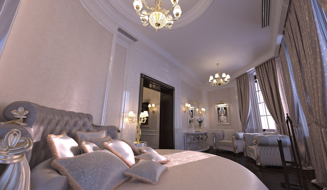 Luxury and Glamour Bedroom Interior Design in Art Deco style image05