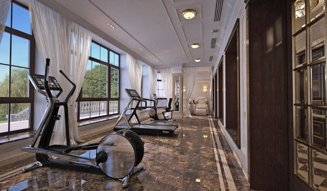 Massage and Fitness room interior in Luxury Home Spa image01