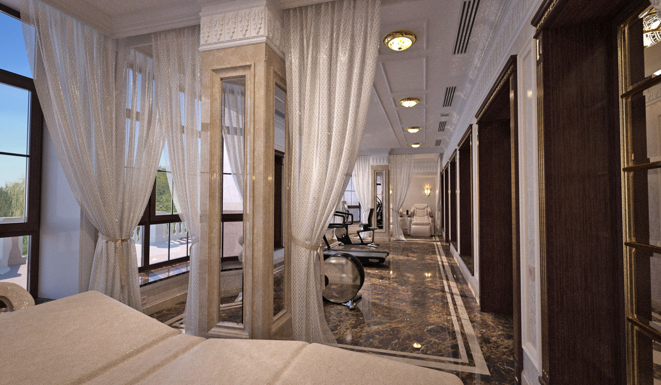 Massage and Fitness room interior in Luxury Home Spa image02