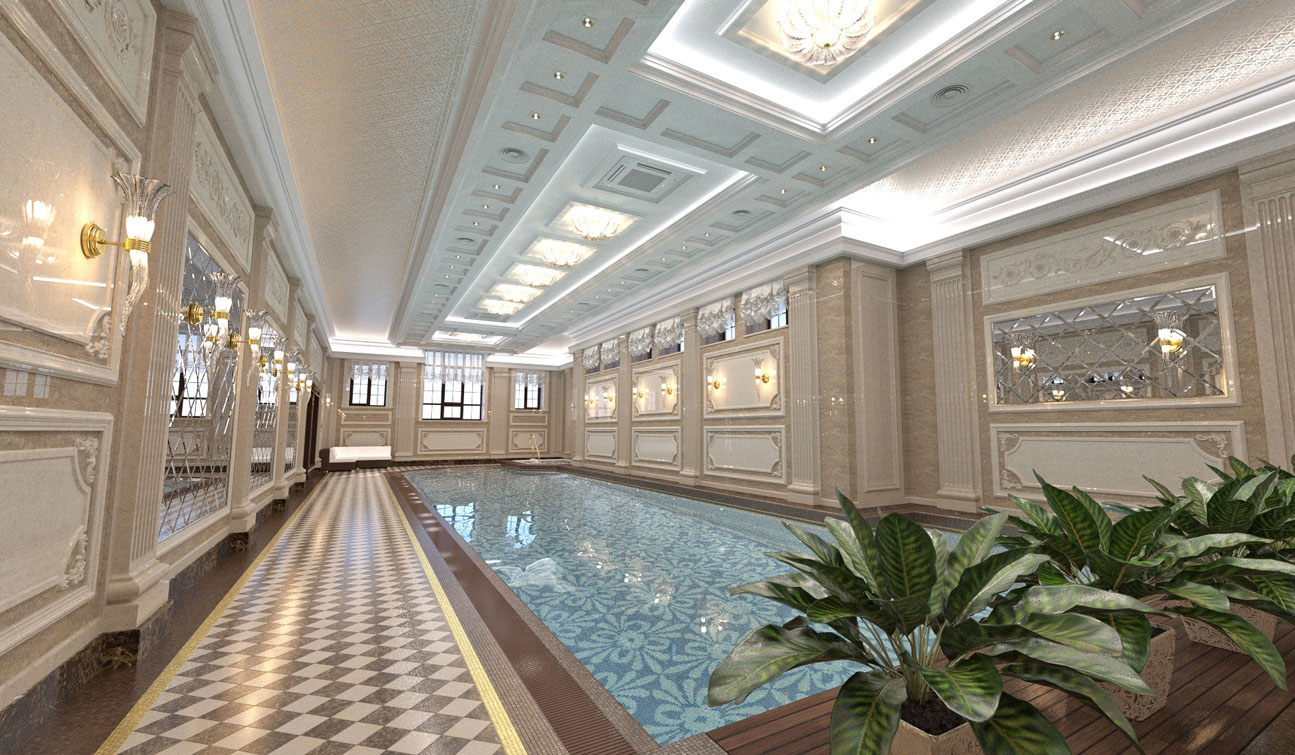 Private Swimming Pool interior in Luxury Home Spa image03