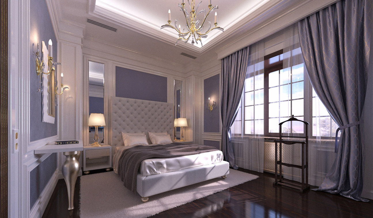 Vicworkstudio Stylish And Luxury Guest Bedroom Interior In Art Deco Style
