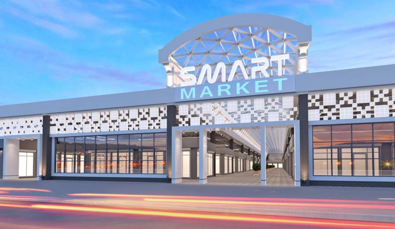 Conceptual design of the covered market – Smart Market