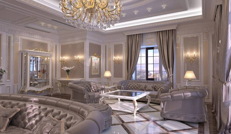 Living Room interior design in elegant Classic style
