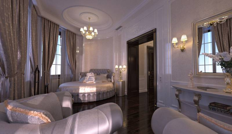 Luxury guest Bedroom Interior design in Art Deco style